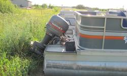 1986 24' suntracker. Carpet and seats are in good shape. The motor is a 75hp mariner and runs great. Must sell. Call 320-828-0464