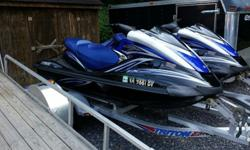 I have 2 nice twin yamaha fx cruiser high output jet skis on a triton aluminum trailer these jet skis look and run great and they have low hours one has 61.2 hours and the other has 53.3 hours and have only been ridden in fresh water these jet skis have