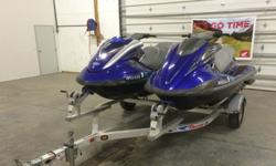 ,.;2007 FXHO Cruiser w/ 109.7 hours. Ski comes with cover, tilt on handlebars, key-fob for lock/unlock and child mode, trim control, and folding step on rear for easy boarding in the water. 2009 FXSHO w/ 73.6 hours. Ski comes with cover, tilt on