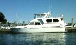 "1988 Med Yachts Int MED56. Fiberglass Hull, 16"" Beam, Detroit 671 950HP Direct Drive Engine, Diesel. Boat Name"