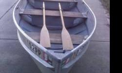 for sale is a 12 foot aluminium boat only. the boat is in good shape and the wood is in good solid shape too. the boat is right at 12 feet long and 51 inches wide at its widest point. the tag on the boat is still good through muy or june. asking price is