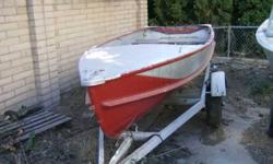 1956 Crestliner. The trailer is okay, it needs wiring-lamps and fender work. The tires are new. This is a project, the boat is useable the way it is. 300.00 or trade for Stihl 046-050-051-056-064 467-6433 Thanks for lookingListing originally posted at