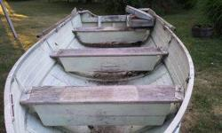 1967 Starcraft 14ft aluminum boat. all original. great boat to use or restore. includes trailer shown. no title for trailer. have title for boat. also have oars which i assume are original also. Seat in picture included with another matching 1 for front.