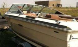 Motor runs, will start right up. needs new gears in the stern. The boat trailer is on rollers and not rails. Very nice trailer.Call or txt 605 499 1222Listing originally posted at http
