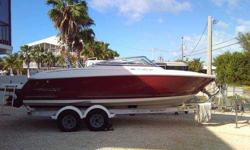 This 2006 Monterey 234 FS Bow Rider has a mercruiser 5.0L, 260 HP motor with 147 Hrs on it. The Boat has a depth finder, Kenwood Sirius Satellite Radio with wired remote, Ritchie Compass (F-50), LED Navigation Lights upgrade, 10 Gal fresh water handheld