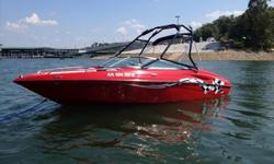 This sport boat is loaded with options to make your weekend memorable. Only 53 engine hours on the Mercruiser 5.0L she has been rarely used. Installed options are