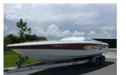 2001 Baja 25 Outlaw roughly 45 hours on engine since rebuild engine is now a 509 with EMI dry stainless headers that sound sweet. boat is estimated now to produce over 550 hp and a top speed of 77 mph new pistons, heads, cam ,. and exhaust single ram