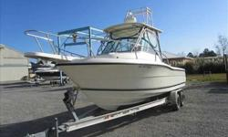 2001 Pursuit 2470 Motivated Seller!Seeking Offers! This well maintained Pursuit 2470 is well equipped with Raymarine C120 Fishfinder/Navigation, VHF radio, and only 532hrs on the 250 Yamaha. She is ready for many more seasons of fishing. This boat is a