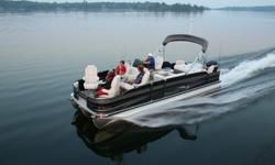 """2014 Premier Cast-A-Way 231 & 251 Luxury Fishing Pontoon Boats with the 231 Model Starting at Only $30,611 Standard Package, No Motor, No Trailer, Plus Fees... If Applicable?*****NOTABLE FEATURES*******?25"""" tubes?11' Evolution Bimini top?Aft vinyl"""