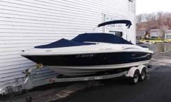 $30,995, MERCRUISER I/O 220HP ENGINE W/92 HOURS OF FRESHWATER USE, 2009 SHORELAND'R DUAL-AXLE GALVANIZED BUNK TRAILER W/BRAKES ON BOTH AXLES, BOW AND COCKPIT COVER, BIMINI TOP W/BOOT, PASSPORT PREMIERE POWERTRAIN WARRANTY GOOD UNTIL JULY 2015, 8 PERSON