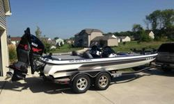 2009 Skeeter ZX 225 Dual Console Bass Boat-2009 Yamaha V-Maxx Series 2 225hp-Manual Jackplate-109 Digital Motor Guide Trolling Motor (36V)-Humminbird 997si (Console), Humminbird 788c Sonar/GPS (Bow)-Interlink System-Custom Boat, Motor, and Power Pole