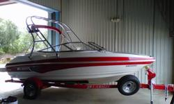 2010 Larson Senza 186 Very little time on engine, $3,500 tower, Hour meter and depth gauge, Dual batteries, Great trailer with less than 2,000 miles on the tires, Like new. Contact