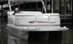 2004 Sundancer 280 DESIGNER 2004 Sundancer 280 Designer tritoon fish and cruise model powered by a 250hp Suzuki Four Stroke motor. The large front deck is ideal for fishing with its 2 pedestal fishing seats and trolling motor. In the cruise area of the