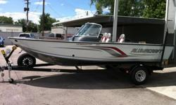 2011 NEW DOMINATOR WITH A F150TXR 4-STROKE YAMAHA, METALCRAFT TRAILER W/GUIDE-ONS AND A SPARE, CUSTOM SNAP COVER.