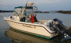 2001 25' Walk Around Cudy with pulpit and radar arch. Yamaha 225hp with 480 hours. Yamaha 8hp kicker also available if desired. NEW electronics