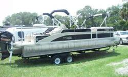 25 ft Yamaha Brand G-3. Loaded Powered by a Yamaha 225 4-stroke. Boat has many options including a stereo system, Bottom finder, Mooring cover (3) Biminis, lounge seating,3 pontoons with lifting strakes. Stainless steel propeller Many more items. Ski tow