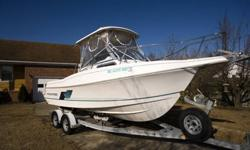 Aquasport 22.5 , 225 Yamaha 4 Stroke , 115 hours on motor , like new , maintained , winterized , Hardtop over cockpit with pole holders, Anchor Light, Curtains around cockpit, sleeps two comfortably with Porta- Potti and lots of storage , Pulpit on bow