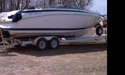 The boat is currently in storage, but in great shape. Trailer available as well. has custom stereo system, and lighting system. Bimini top, covers, carpets, upholstery, and exterior in excellent shape. About 430 hours. Runs great, 502 MPI Merc, Bravo III
