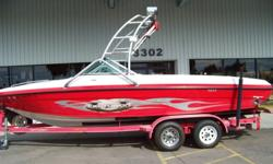 2005 23? Centurion Typhoon JUST REDUCED $32,900 This boat is loaded, Mercruiser 6.0L, 170 hours Tower speakers, side swipe exhaust shower flip up drivers seat 3 amps tower 3 ballast tanks bimini top cover perfect pass heater dual batteries tandem trailer