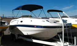280 HP Volvo Penta 5.7Gi, Duo Prop Drive, SS Props, Bimini Top w/ Struts, Enclosed Head w/ Porty Potty, Galley w/ Sink & Built-In Cooler, Cooler Storage Space w/ Cooler, Double-Wide Captain?s Chair w/ Bolster, AM FM CD Stereo w/ Helm Remote, Compass, Tilt