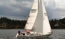 Well loved 1982 Pearson 32 for sale. Two new headsail, new transmission, batteries and charger. All rigging replaced in 2009. New head and sanitation lines the same year. New larger 25 gal. holding tank 2012. Garmin chart plotter/depth. Radar and UHF at