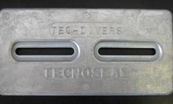 "Divers Anode Lrg - 12""x 5 63/64""x 1/2"" TEC DIVER PLATE HULL ZINC (ALL SIZES IN STOCK)Call 800-732-0988"