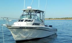 27' GRADY WHITE Sailfish 1995/2002 Mercury Opti's 225 HP ea VERY,VERY CLEAN & in EXCELLENT condition. T-top & bow pulpit reglassed ALL of the following is NEW