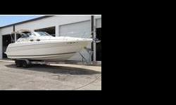 She is powered by a 7.4-liter 454 V8 MerCruiser engine with new('09) Bravo III outdrive, AIR CONDITIONING with heat system, pressurized freshwater system, dual battery onboard charger, remote control searchlight, trim tabs, onboard water heater, windless