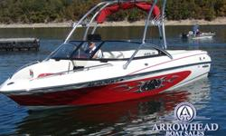 Powered by Indmar Monsoon 335 this Malibu is lake ready! Features include:Teak swim platform, Malibu Launch system 1,200lbs, bimini top, tower speakers, mooring cover, custom built trailer, dinnette table, Malibu Wedge, Perfect Pass Cruise Control,