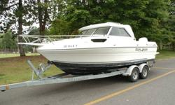 Great boat with 225 HP E-tec and Mercury 4-stroke kicker. Very rare boat that cost almost $60K. new in 2008. Unique enclosed hardtop bulkhead cabin with door. 503-933-4484