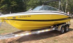 This is a like new 2011 Regal 2100 Bowrider, loaded with options. It has full snap on covers, snap out carpet, a color screen Garmin GPS system, upgraded Sony Fusion stereo system with protected I-pod hookup, amplifier and subwoofer, bow filler cushions,