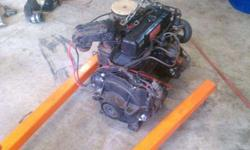 I have a 4 cylinder 120 horsepower mercruiser engine that came out of a 1987 Rinker runabout. Engine ran good im parting out the boat due to interior being trash. Complete engine im asking $350. I have many other parts as well. Call/txt 502 472