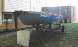 This Boat is in awesome shape and it comes with a trailor!!! It was recently repainted and I put new lights on the trailor and it has everything you need to be on the water. It has a newer trolly motor, batter and brand new life jackets. Along with your