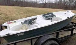 2006 Pelican 10 feet 2-Man Fishing Boat For Sale by McFadden Marine and Auto - El Dorado Springs, MissouriListing originally posted at http