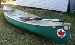 13 feet long 2-person; padded seats 2 paddles included (also 2 life vests, if desired) In great condition; no leaks.