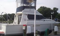 SWEET, 1993 Silverton 31 foot mid cabin convertible (model 31C) flybridge boat in great condition powered by twin crusader inboards 350/5.7 L freshwater cooled. ONLY 405 Hours! See complete listing at http