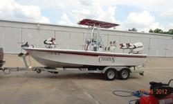 Champion 220 Bay Champ-2007$37,000 please call 713-344-3586, please leave message referencing boat.Only 8 hours on engine(2) Fire Extinguishers(1) Extra Fuel Filter(1) Extra Oil(1) Filter Wrench(1) First Aid Kit(1) Flare Gun Kit(3) Hand Lines(1) Bail