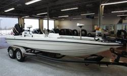 """THIS IS ONE SERIOUS FISHING MACHINE!!!!!! CALL 913-712-9868 ? ONLY 105 HOURS ? ARCTIC WHITE W/STORM GRAY CARPET ? 2009 CHAMPION 210 ELITE ? 20' X 10"""" ? 300HP MERCURY OPTIMAX 32 STROKER CUSTOM ? BUILT BY MERCURY RACING ? TROLLING MOTOR 109 MOTOR GUIDE VDS"""