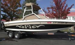 This Malibu needs a new home. This classy color combo looks good on and off the water. It has 411 hours on the Indmar Monsoon motor. It also comes with 6 tower speakers, 7 tower lights, speaker/light cover, bimini, heater, shower, bow filler cushion,