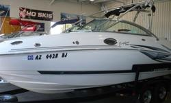 2005 Monterey 233 Explorer 25? Deck Boat$35,900Very Clean, Original Owner, Arizona Fresh Water Boat with Only 260 original hours on Volvo 5.7L GI Multi Port Fuel Injected V8 and Duo-Prop Drive, Runs Perfect! Factory Folding Monterey Wakeboard Tower with