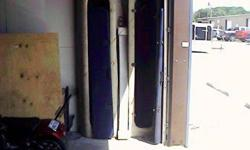 """Here are two 80""""x 21"""" boat carpartments for your boat to put your rod &reel poles in and lock up or put them in your garage they each hold 3 poles I am asking $35.00 each thank you Wes Call 409-256-8664 these compartment lay flat not up like you see them"""