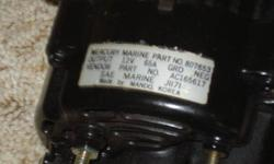 Worked perfectly when removed, but is pre-owned and sold as-is, made by Mando/Korea which is original factory supplier for this alternator, Mercury Marine part no.807653, 317-877-3489Listing originally posted at http