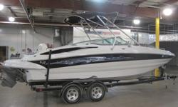 2005 Crownline 240 Ex, Excellent condition, all the bells and whistles. Alum wake board tower with racks, Cd player with Subwoofer, Amp and tower speakers. Porti-potta, sink, Hot-Cold transon shower, Fold down sunbench, Bolster seats, Mp3 player, marine