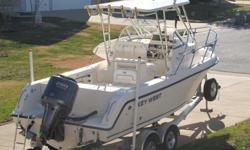 NEW CONDITION.......Seldom used 2007 2300WA Key West Blue Water Cuddy with 2007 F250 XTR Yamaha on a 2008 Venture duel axel trailer. Boat/ motor/trailer have extremely low hrs. (184hrs total). I am the original owner and had the boat build in late 2007.