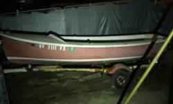 O'Day Widgeon Sailboat, 12', with trailer, probably made in the 1970's, last sailed in about 2007. Popular boat for learning how to sail. Will need some restoration. The boat seems O.K. but the trailer is pretty rusty. Comes with aluminum mast and boom,