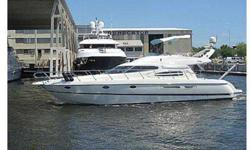 Solidly built, spacious, comfortable and a attractive ride make this Euro-styled 48' Flybridge Motor Yacht a great family cruiser and a great buy! Originally founded in 1870 in Lake Como, Italy, Cranchi had been producing quality fiberglass built cruisers