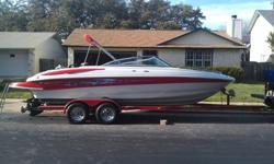 ?2006 230LS Crownline for sale. (300/330hp) 350 MAG MPI Bravo 3. brand new motor with less than an hour so far...2 year unlimited hour warranty on it... 123hr on boat. Call or email for details 512-922-9483