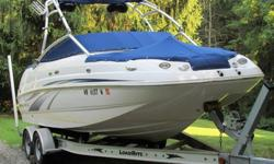 Please see additional new information below! 2007 Chaparral 214 Sunesta ski/wakeboard deckboat with 2007 Load Rite tandem axle aluminum trailer. Boat details
