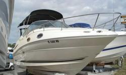 2006 Sea Ray 240 SUNDANCER The 2006 Sea Ray 240 Sundancer is a grand first step into Sea Ray's world-renowned family of raised helm, mid-cabin stateroom designed cruisers. The ingenious cabin layout encompasses plentiful storage, gorgeous maplewood