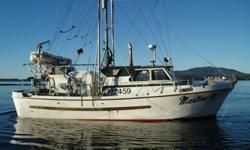"Turn key - Ready to fish including gear and all electronics - very clean and well maintained. Owner retiring. ? Location: Prince Rupert? Built: 1974 Deltaga Boatworks ? 37'10"" x 11'3"" x 4'8""? Engine: 471 GMC Diesel? Rebuilt Hours: 2 Seasons? Reduction"